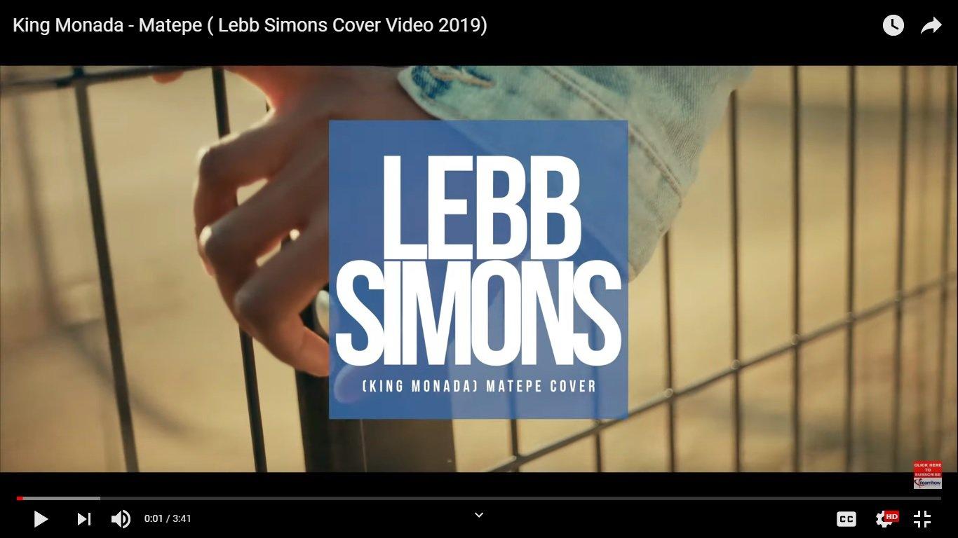 VIDIEO: King Monada - Matepe ( Lebb Simons Cover)
